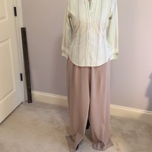 NWT Bon Worth Stretch Beige Pants Large